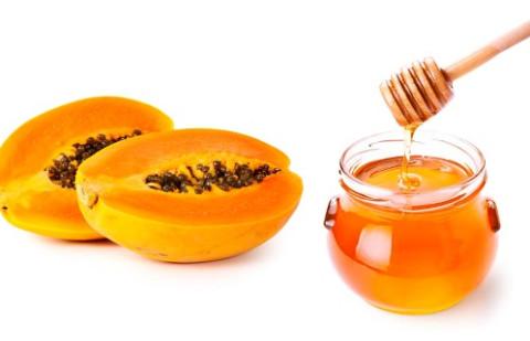 Trị nám bằng đu đủ và mật ong