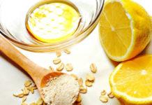 chống lão hóa da từ thiên nhiên bằng chanh, mật ong và bột yến mạch