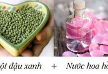 Làm mờ nám da với bột đậu xanh và nước hoa hồng